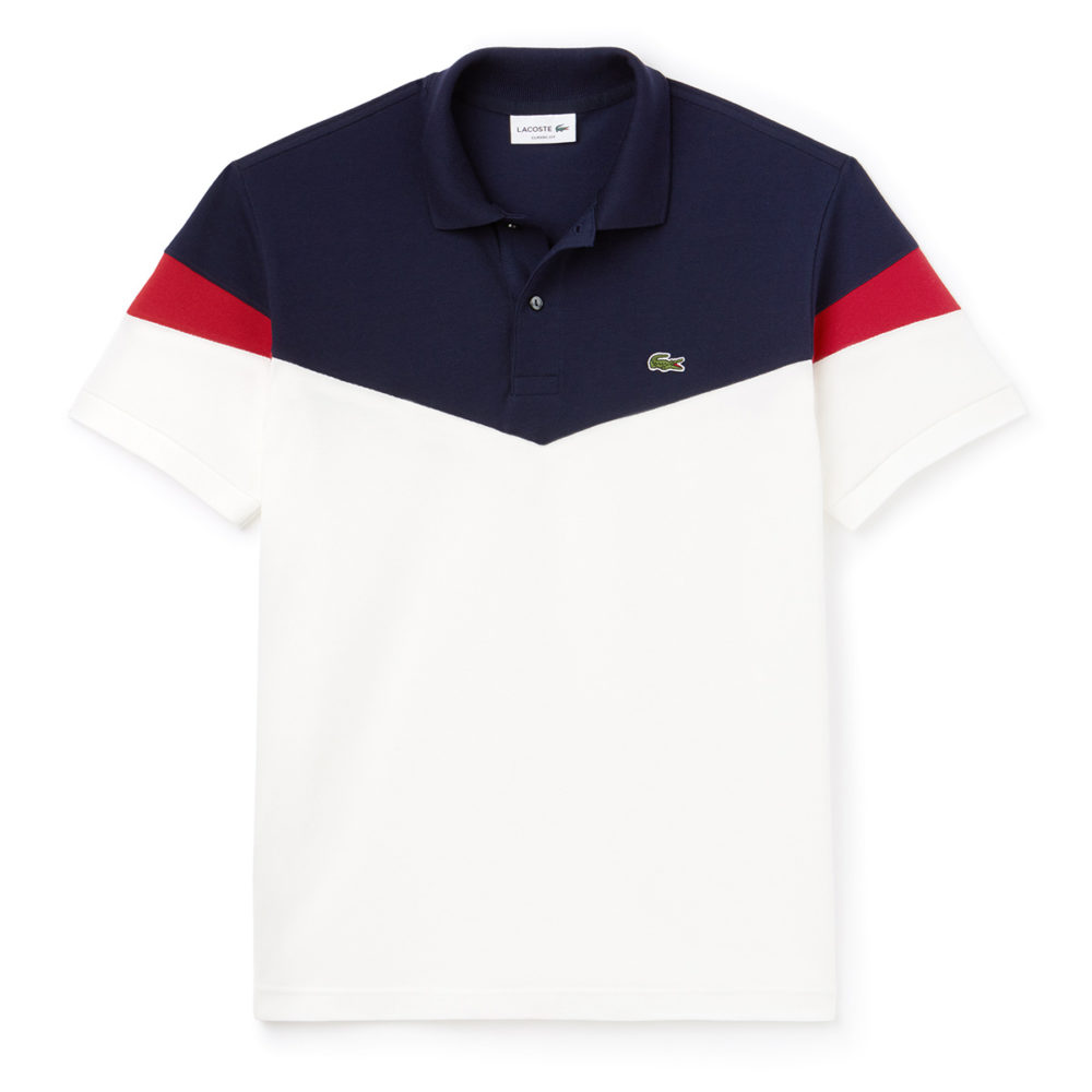 21eba7eee Lacoste Classic Fit Colorblock Cotton Petit Pique Polo Shirt - Cool Js  Online