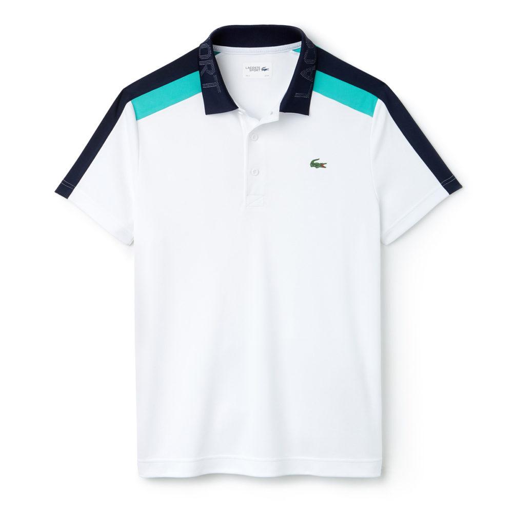 17d8abdd921311 Lacoste Sport Contrast Band Technical Pique Tennis Polo Shirt - Cool ...