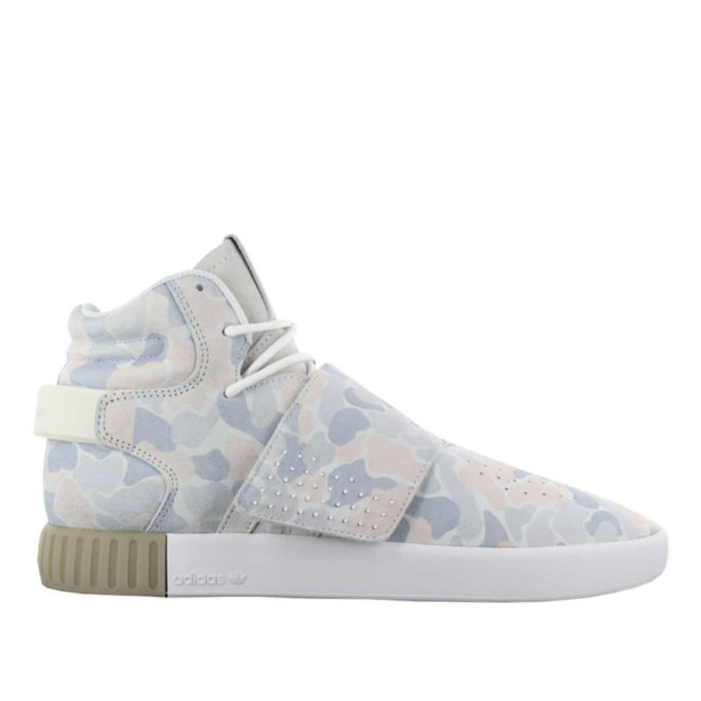 new style 97301 81fd5 Men's Adidas Tubular Invader Strap White/Footwear White/Light Solid Grey -  Cool Js Online