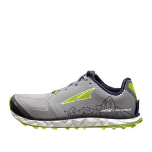 altra-SUPERIOR4-GREY/LIME-SIDE VIEW