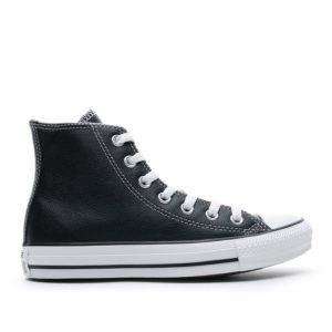 converse-all-star-leather-hightop-black-side view