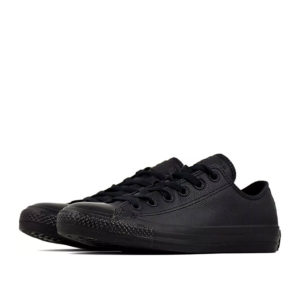 converse-all-star-leather-lowtop-black-mono-angle view