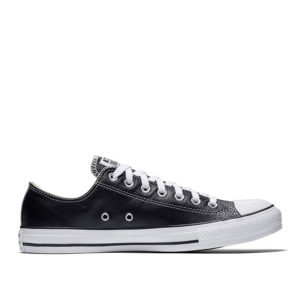 converse-all-star-leather-lowtop-black-side view