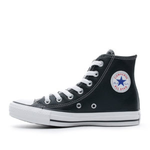 converse-all-star-leather-hightop-black-back side view