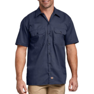 mens-dickies-work-shirt-navy-blue