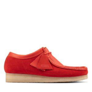Men's Clarks Original Wallabee Desert Boots - Red