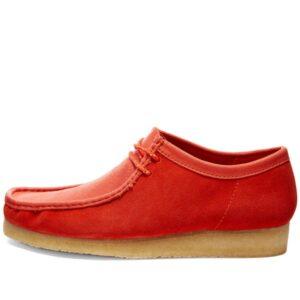 Men's Clarks Original Wallabee Desert Boots - Red 2