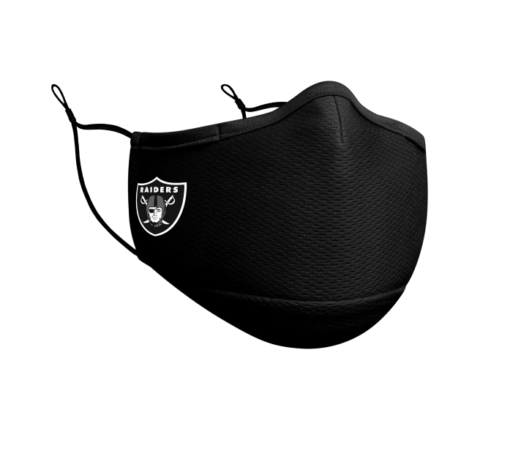 las vegas raiders black face mask