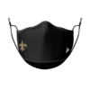 new orleans saints face mask black