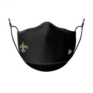 new orleans saints face mask black