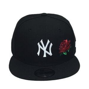 yankees-black-rose-snapback
