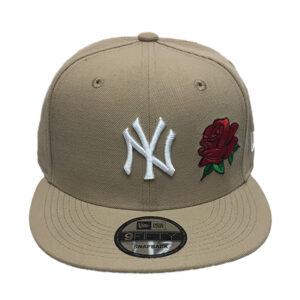 yankees-camel-snapback-rose