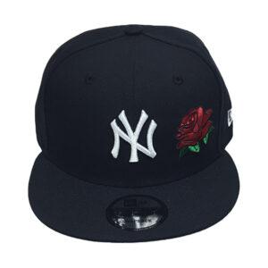 yankees-navy-rose-snapback-hat