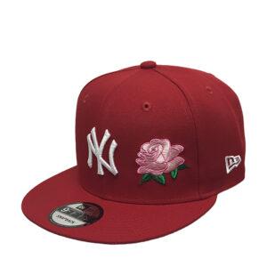 yankees-scarlet-snapback-rose