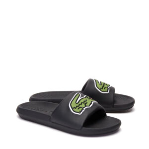 lacoste-croco-synthetic-slides-black-green