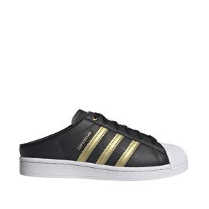 Adidas-Superstar-Mules-Core-Black-GoldMetallic-CloudWhite-sideangle