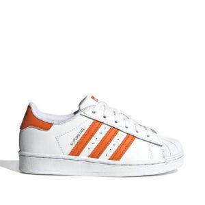 Adidas-superstar-white-orange-blue-sideangle