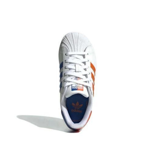 Adidas-superstar-white-orange-blue-topangle