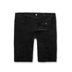 Jordan-Craig-Crinkled-Shorts-Jet-Black-frontangle