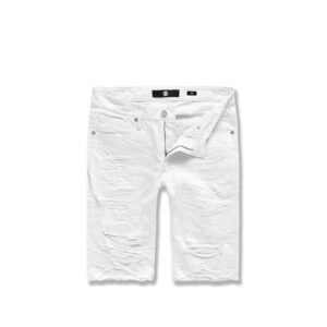 Jordan-Craig-Shredded-Twill-Shorts-White-frontangle