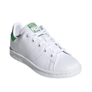 Little-Kids-Adidas-Stan-Smith-Shoes-Cloud-White-Green-cornerangle