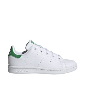 Little-Kids-Adidas-Stan-Smith-Shoes-Cloud-White-Green-sideangle
