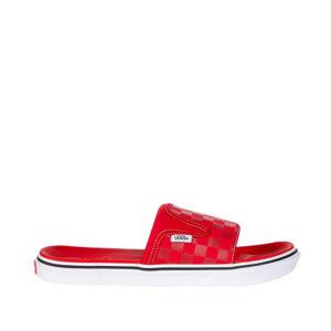 Vans-Ultra-Cush-Slide-On-checkerboard-Red-White-sideangle